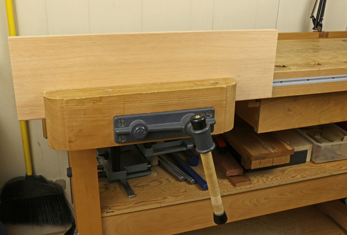 workbench front vise