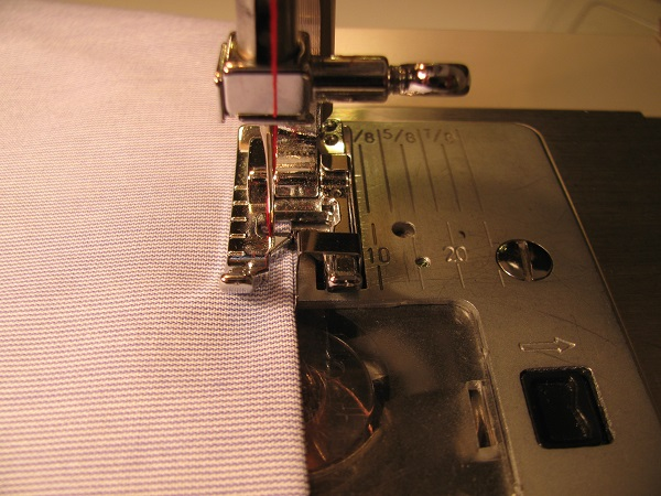 sewing pintucks with an edge-stitch presser foot