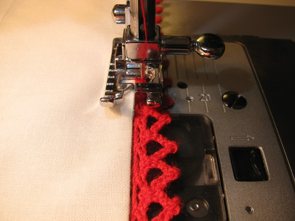 stitching with an edge presser foot