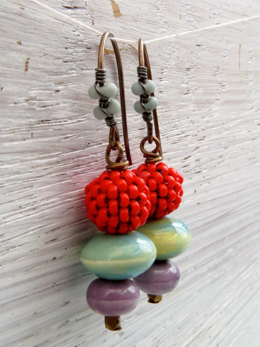 Step 3 - the finished earrings