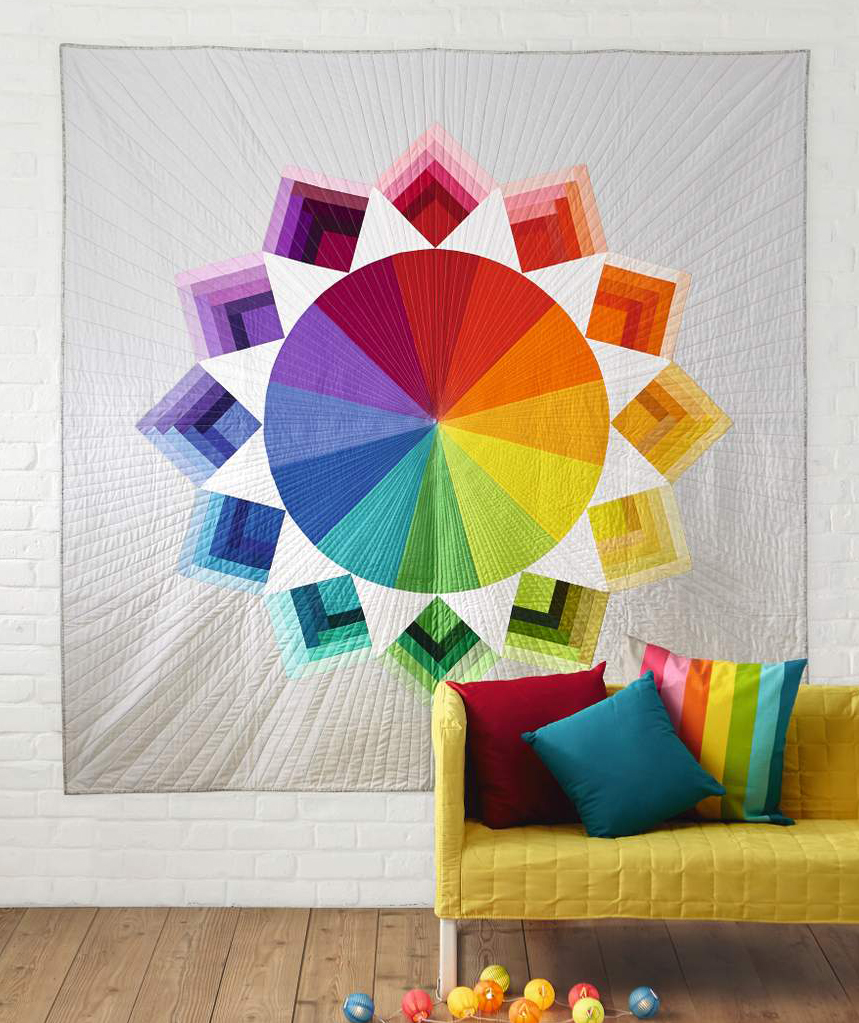 Color Wheel Quilt by Holly DeGroot for LPQ