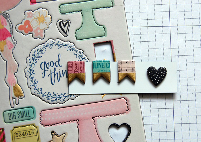 Embellishments from Crate Paper Collection