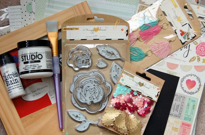 Supplies for DIY photo frame