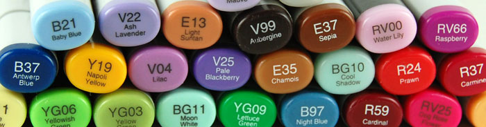 Group of Copic markers