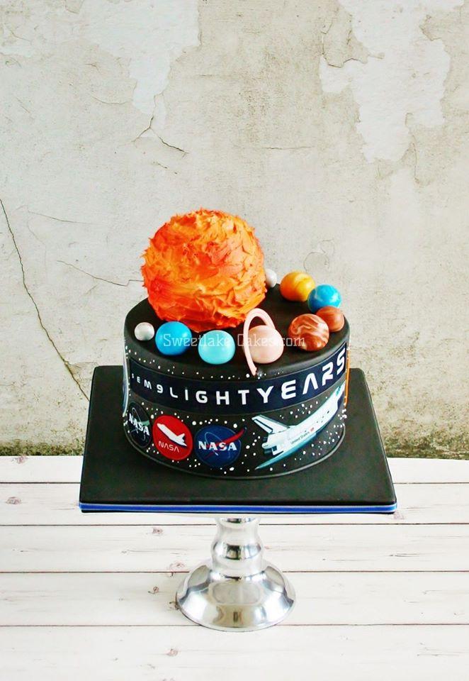 NASA outer space cake