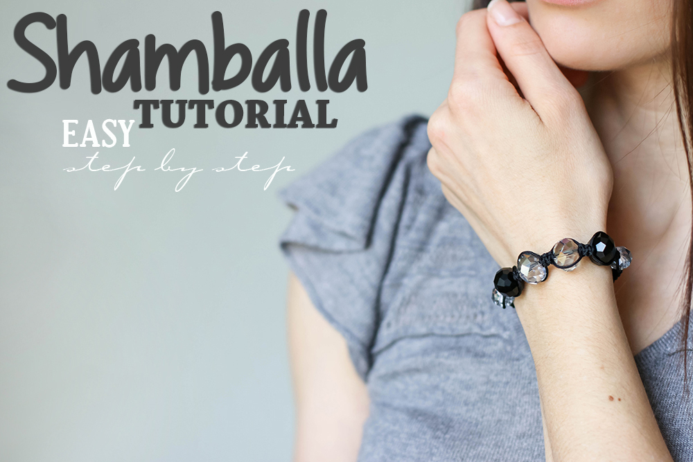 Shamballa bracelet tutorial -featured by OhEverythingHandmade