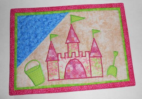 Summer Sand Castle Mug Rug Pattern