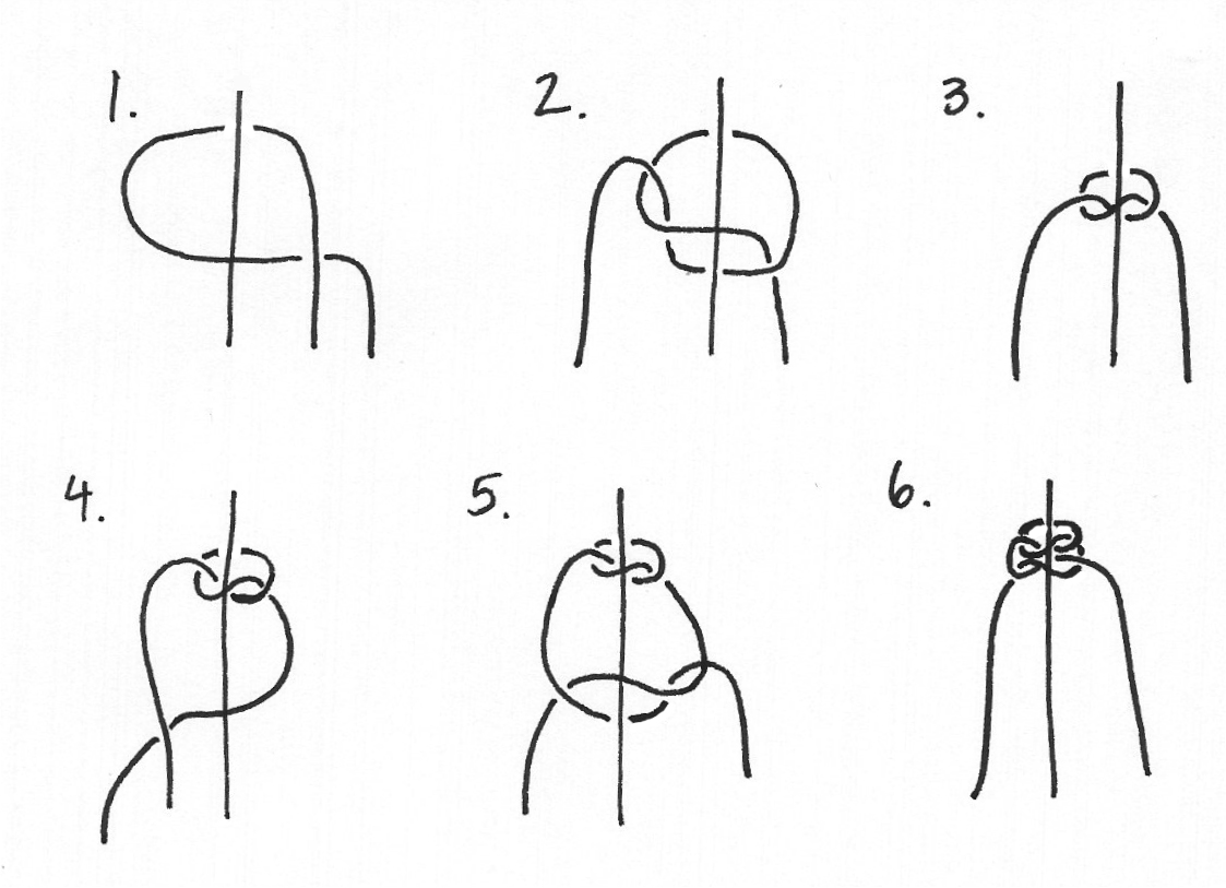 Tie Square knot instructions