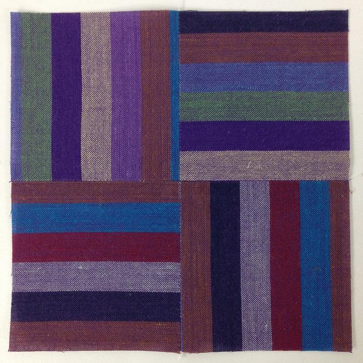 Woven Stripes Four Patch Block