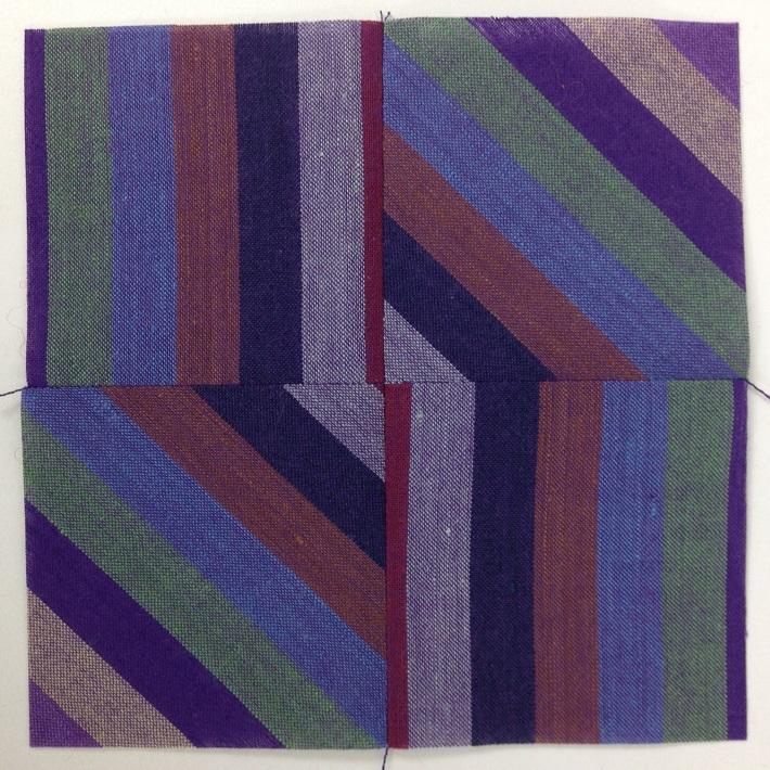 blended stripe block