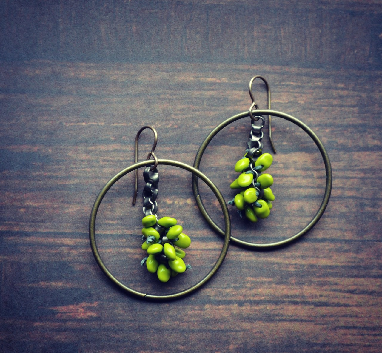 bud inspired earrings
