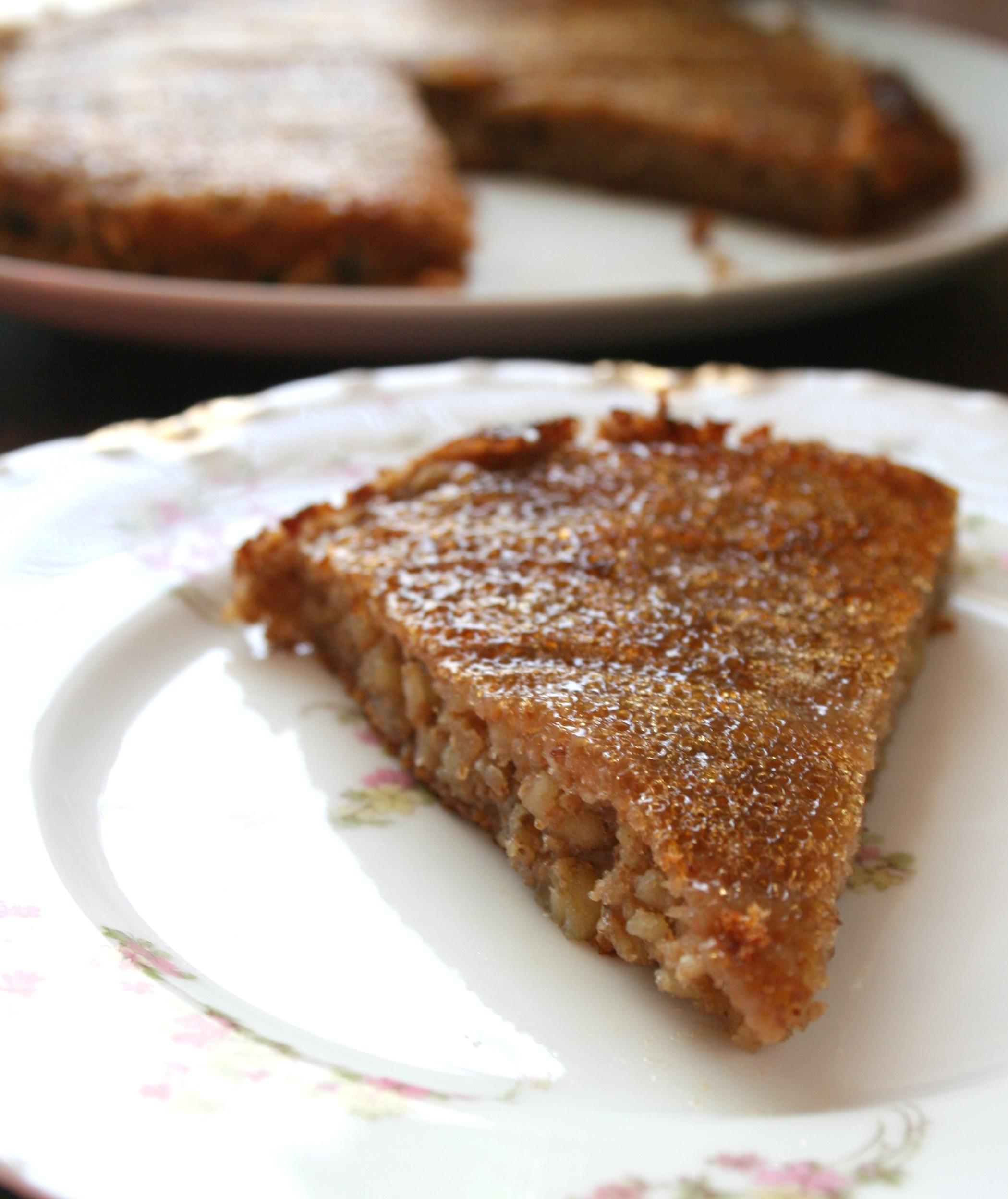 Slice of paleo cake