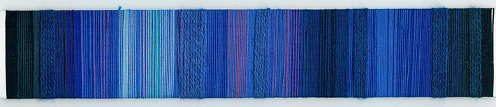 textured blue yarn wrapping