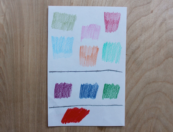 color pencil test