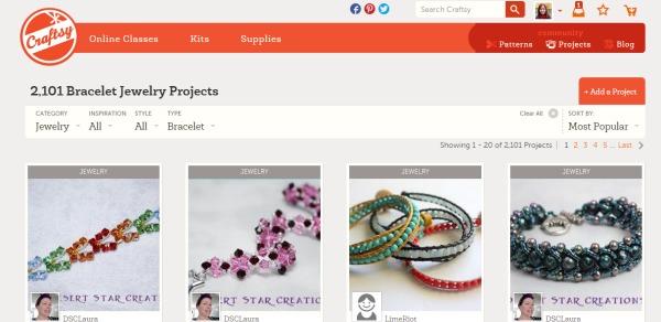 Craftsy web page image