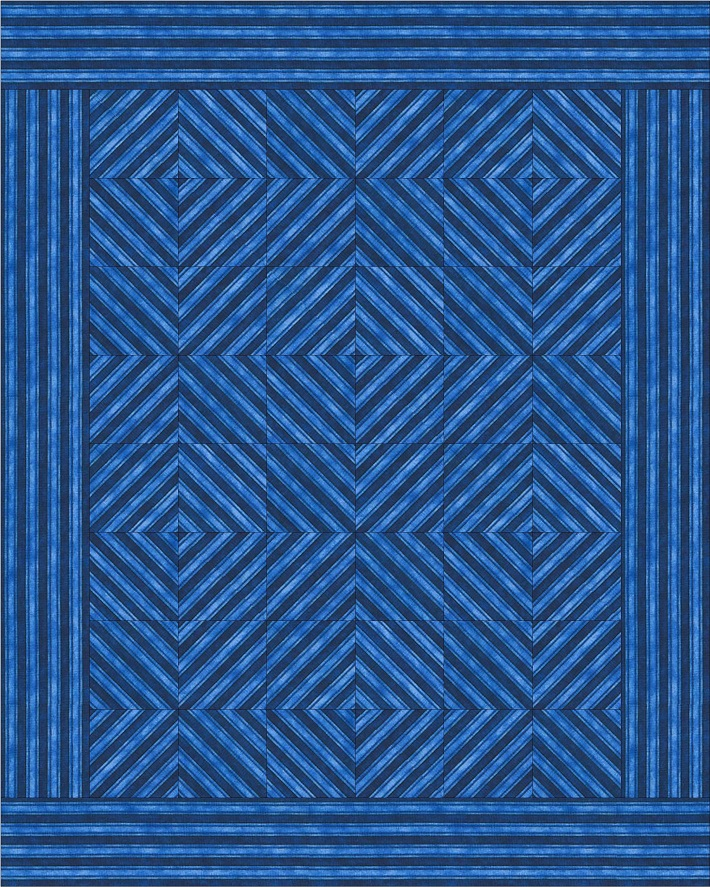 diamond stripes quilt
