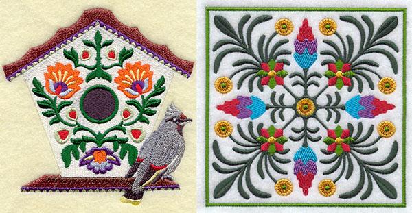 embroidery library wycinanki birdhouse
