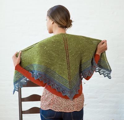 Quaking Aspen free shawl knitting pattern