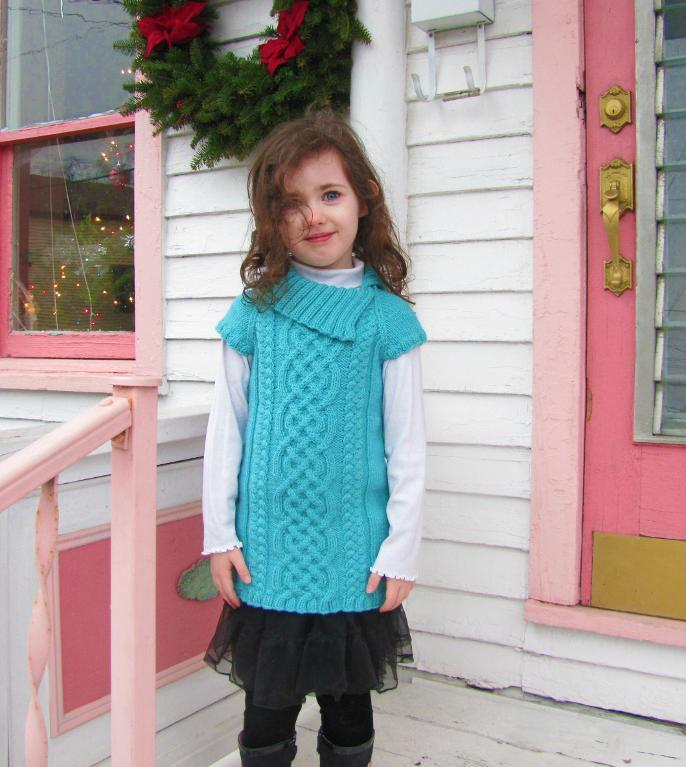 Devenish kid's tunic knitting pattern