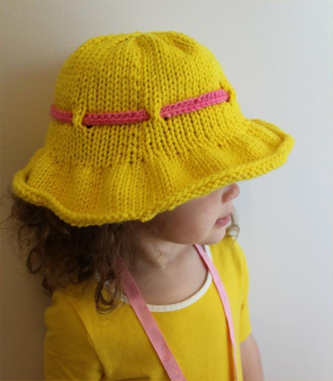 Sun Brim Hat knitting pattern