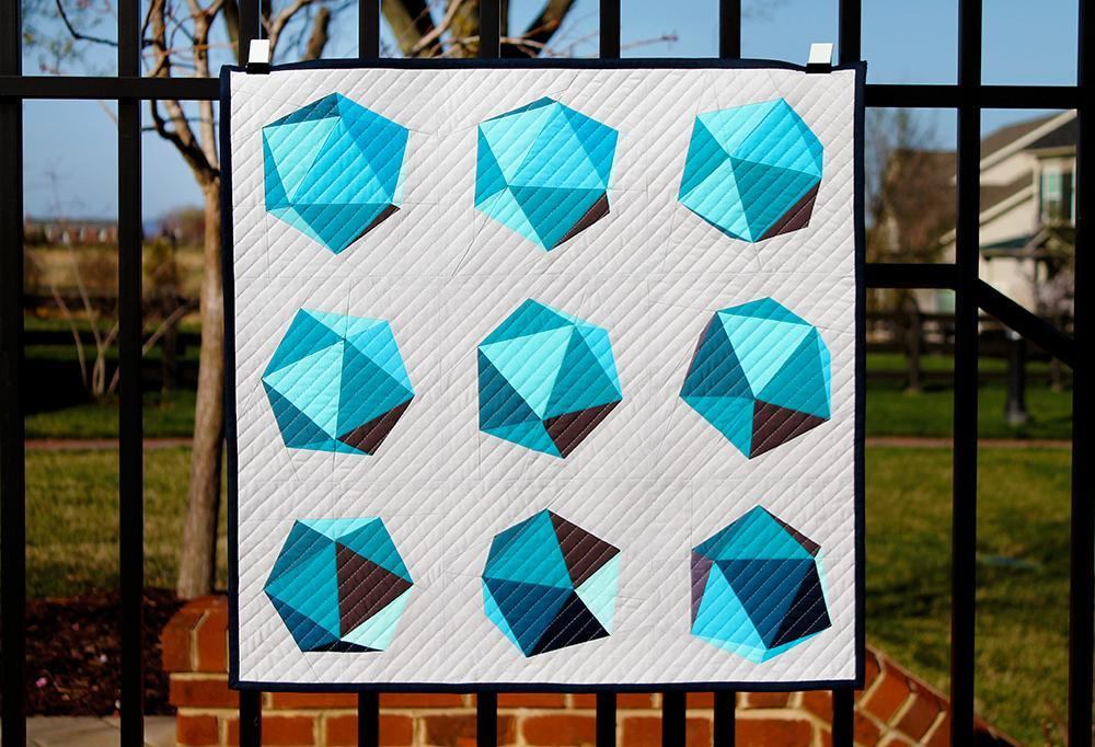 Spinning Icosahedron Mini Quilt