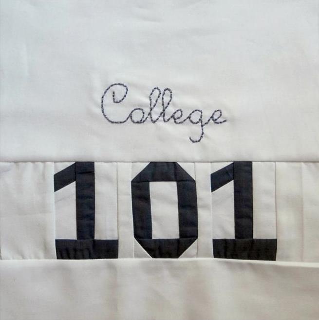 College 101 quilt block