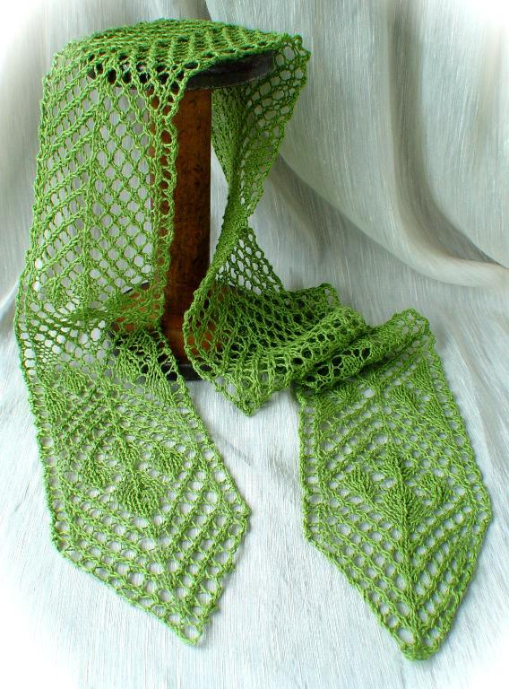 The Skinny on Lace scarf knitting pattern