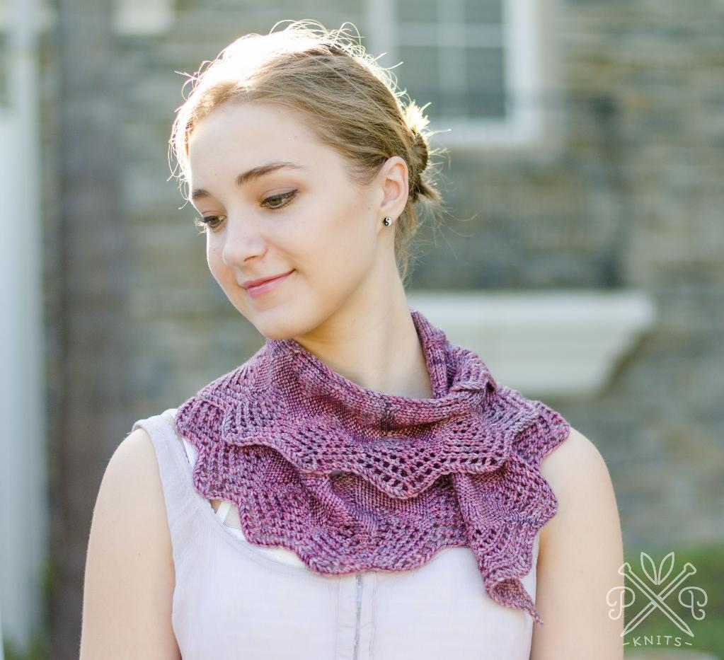 Battenburg Lace Scarf knitting pattern