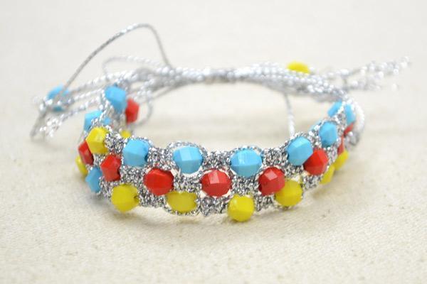 Square Knot Macrame Bracelet pattern