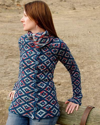 Oblique Motion cardigan knitting pattern