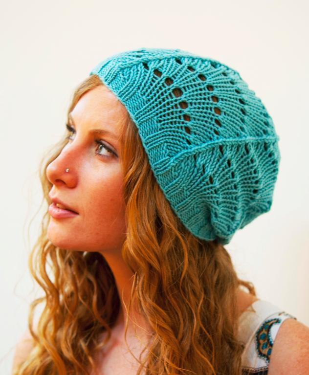 Scallop Lace Hat free knitting pattern