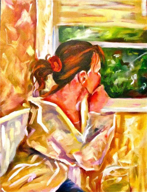 Portrait featuring hair