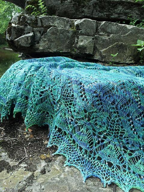Ipomoea shawl knitting pattern