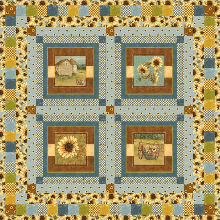 Sunflower Farm Quilt Pattern