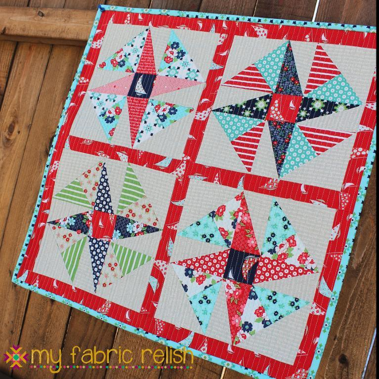 WindSail Mini Quilt Pattern