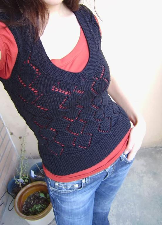 Sexy Vesty free knitting pattern