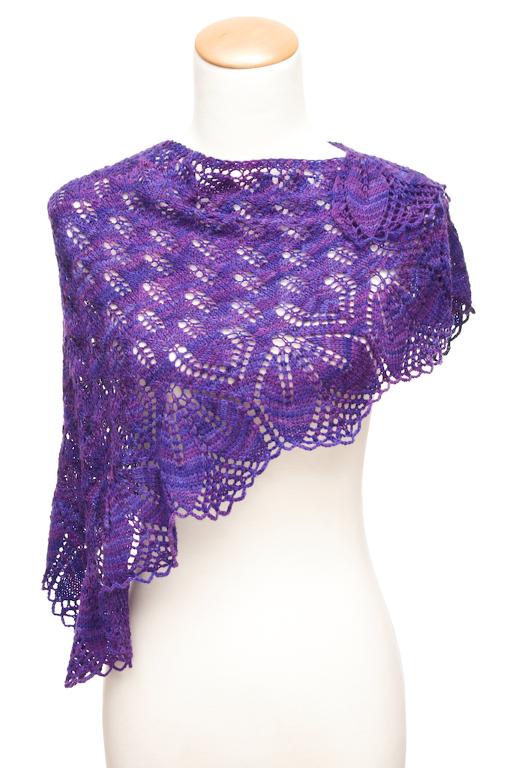Haruni free shawl knitting pattern