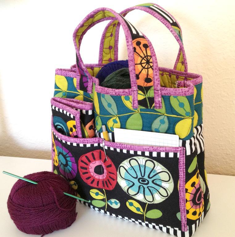 Quilted Crochet Caddy Set
