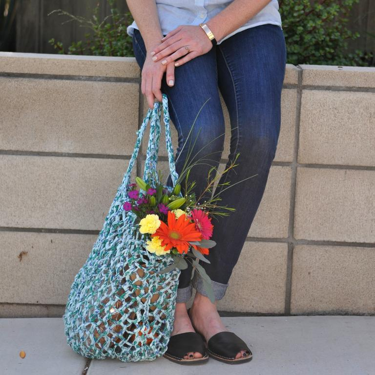Wildflower Market Bag knitting pattern