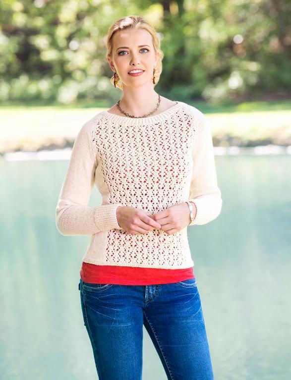Fleurette Lace Pullover free knitting pattern