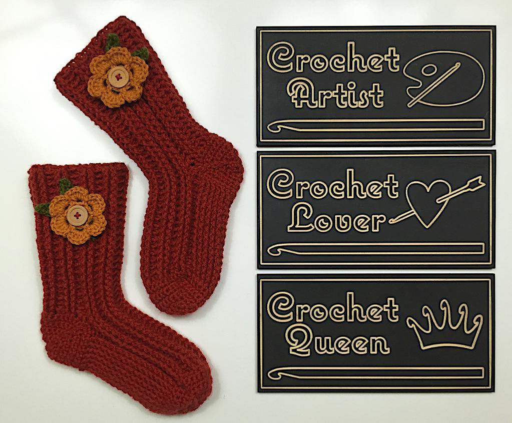 Super Slipper Socks free crochet pattern