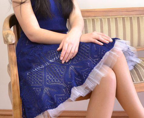 Silk Summer Dress with Petticoat knitting pattern