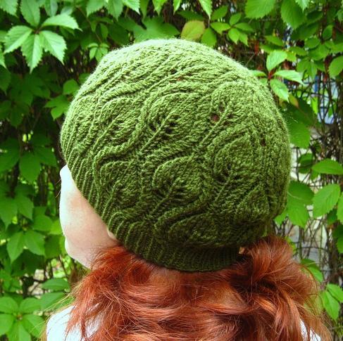 Foliage Hat free knitting pattern