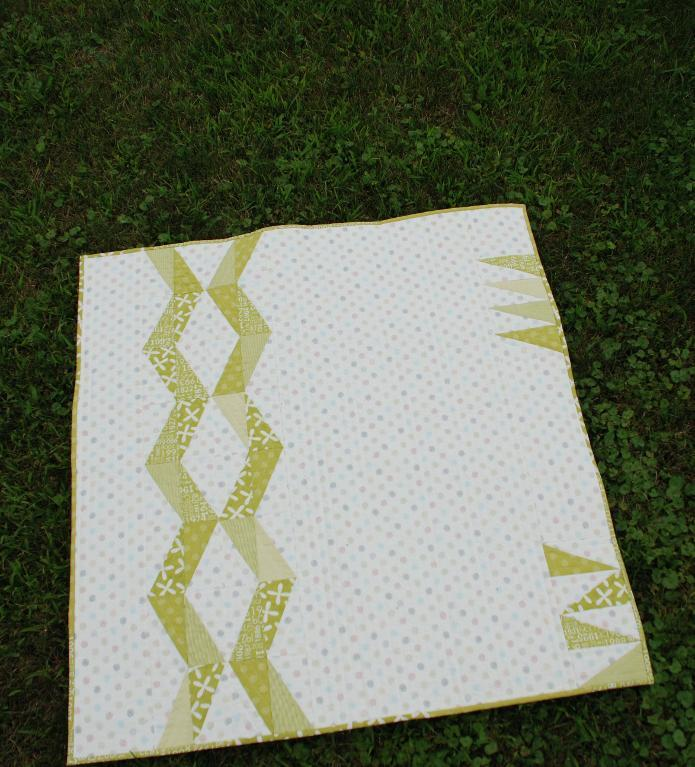 Spiked Shortbread Baby Quilt