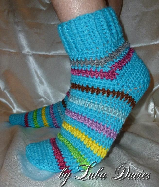 Afterthought heel men's socks free crochet pattern