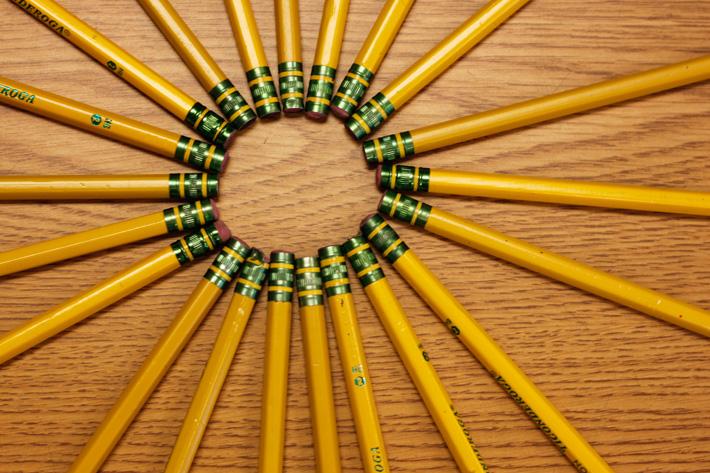 pencils, school supplies, mundane photography