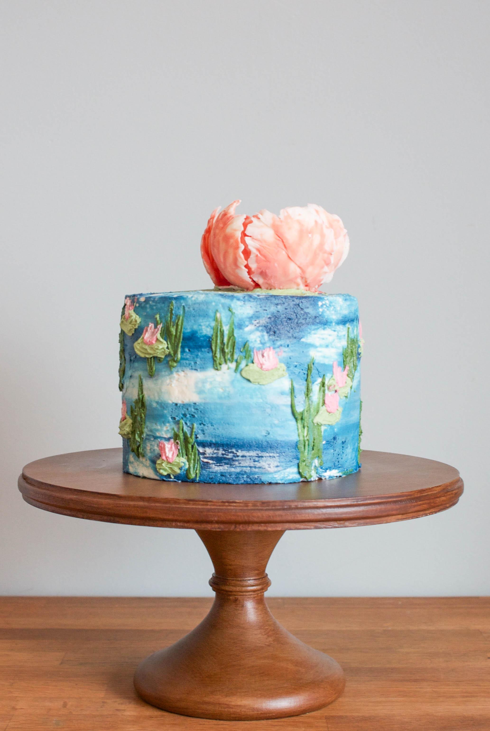 Water Lilies Buttercream Iced Cake | Erin Gardner | Bluprint