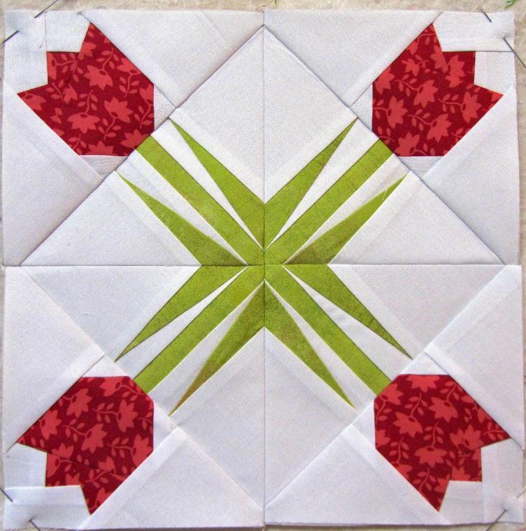 Tulips paper pieced