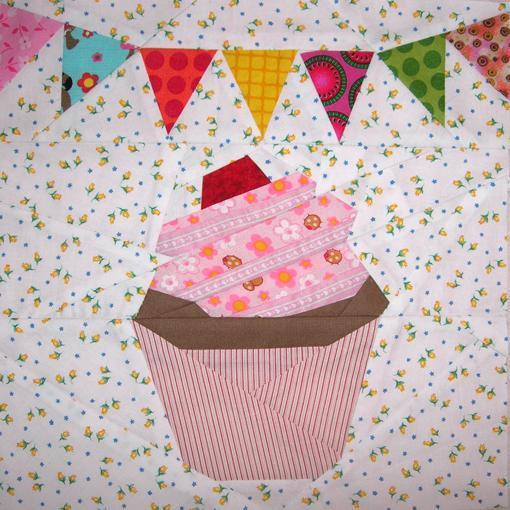 Cupcake paper pieced