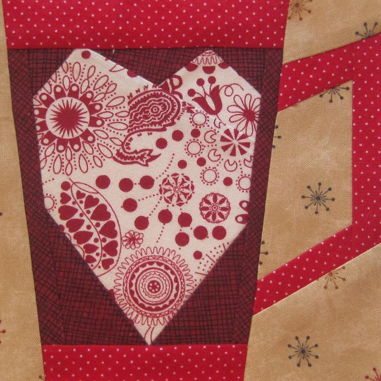 Mug with heart paper pieced